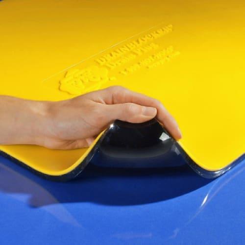 Plaque d obturation PIG® Original DrainBlocker® 91 x 91 x 1,3 cm photo du produit Side View L