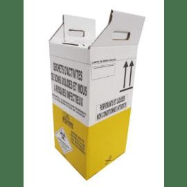 Carton hospitalier DASRI 25L haut lien cranté NF X photo du produit