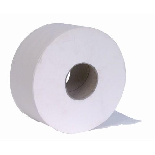 Papier toilette rouleau mini géant blanc 2 plis 200m prédécoupé 8,5 x 18,5 cm photo du produit