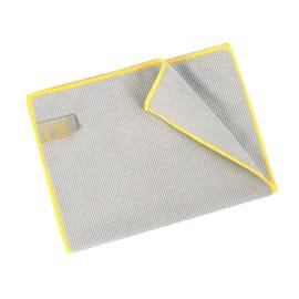 Essuyage microfibre Mini 320 gris surjet jaune 23 x 35 cm photo du produit
