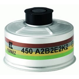 Cartouche anti-gaz aluminium A2B2E2K2 pour masque anti-gaz à système cartouche Honeywell standard RD40 photo du produit