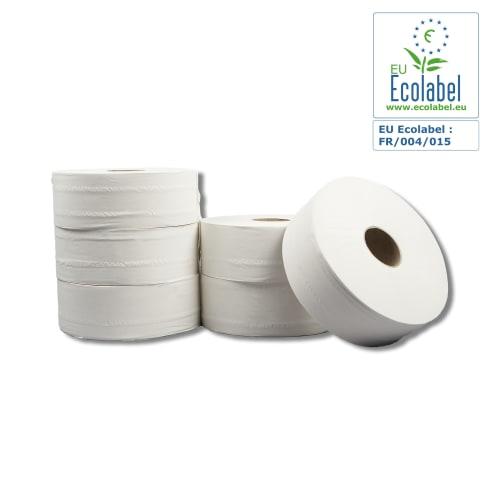 Papier toilette rouleau géant blanc 2 plis 380m prédécoupé 9 x 17,5 cm photo du produit