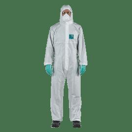 Combinaison de protection type 4-B antistatique AlphaTec 1800 PLUS ts - Modèle 111 blanc taille L photo du produit