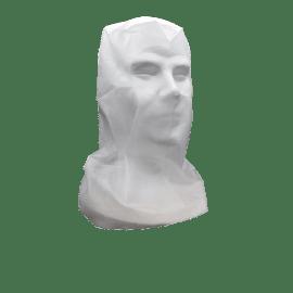 Cagoule scaphandre avec calot Poligard PLP 30g/m² blanc photo du produit