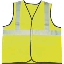 Gilet de signalisation classe II 2 bandes polyester jaune XXL photo du produit