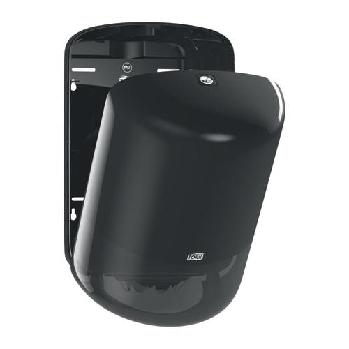 Distributeur d essuyage dévidage central noir M2 moyen modèle photo du produit Side View L