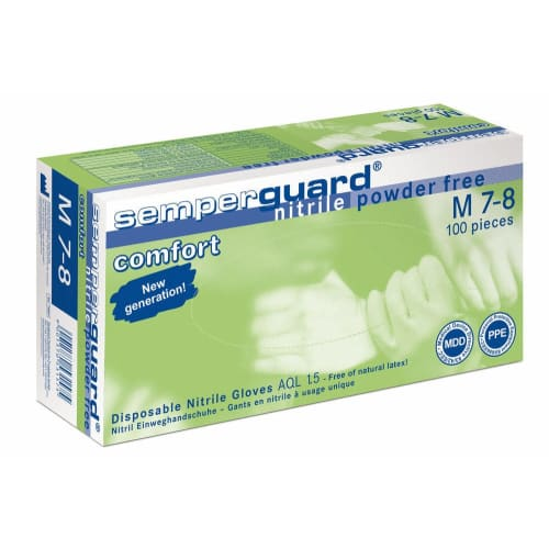 Gant de protection chimique nitrile Confort non poudré taille L photo du produit