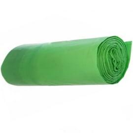 Sac plastique PE BD 50L vert 30µm photo du produit