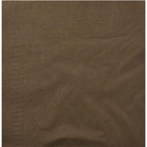 Serviette papier 2 plis 39 x 39 cm chocolat photo du produit