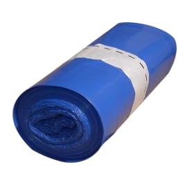 Sac plastique PE BD 30L bleu 20µm NF photo du produit