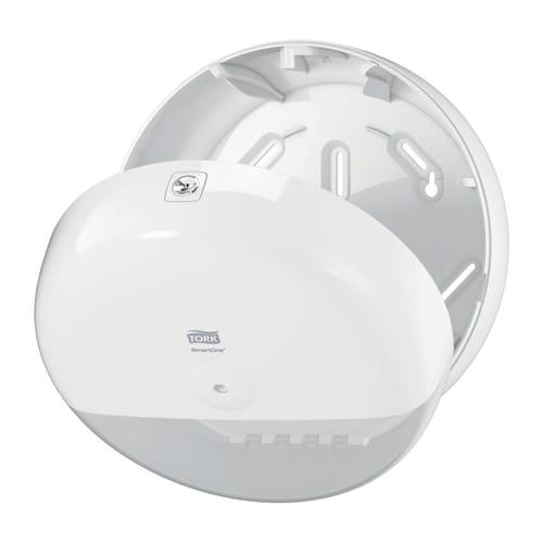 Distributeur de papier toilette rouleaux géant Smartone à dévidage central blanc photo du produit Side View L