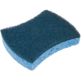 Tampon abrasif bleu sur éponge 12 x 10 cm photo du produit
