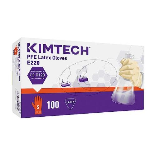Gant de protection chimique latex Kimtech Science PFE taille S photo du produit Side View L