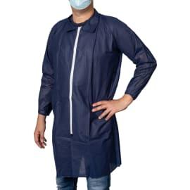 Blouse PLP 40 g/m² à col fermeture Zip bleu marine taille 4 (XL) photo du produit