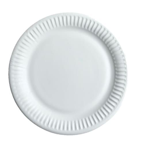 Assiette carton ronde Ø180mm blanc photo du produit