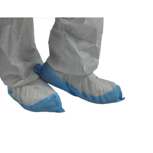 Surchaussure PLP 35g/m² semelle PE 60µm blanc/bleu 39,5cm photo du produit