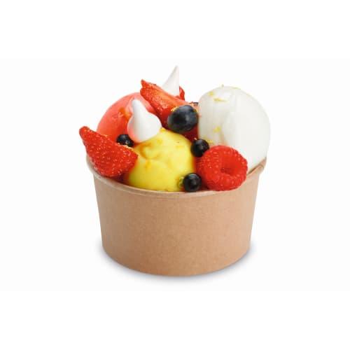 Pot à dessert carton 16 cl kraft photo du produit