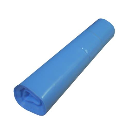 Sac plastique PE BD 130L bleu 55µm photo du produit