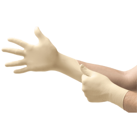Gant de protection chimique latex Micro-Touch Coated blanc non poudré taille S photo du produit