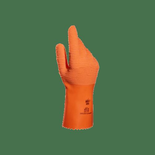 Gant de protection chimique latex support tissu Harpon 321 grip renforcé orange taille 8 photo du produit