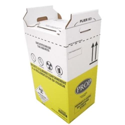 Carton hospitalier DASRI 50L bas lien coulissant NF X photo du produit