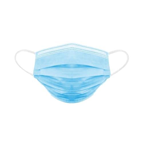 Masque médical type IIR bleu à élastiques photo du produit