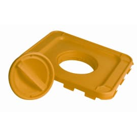 Couvercle à obturateur jaune pour fûts DASRI VAT5 photo du produit