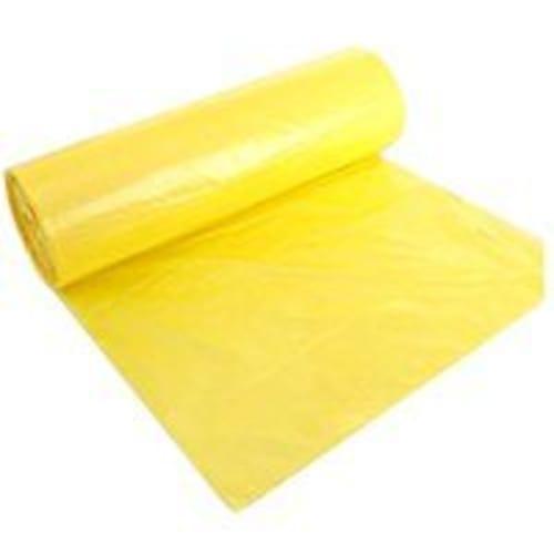 Sac plastique PE BD 110L jaune 40µm sans lien photo du produit