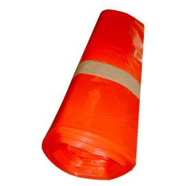 Sac plastique PE BD 50L rouge 22µm NF photo du produit