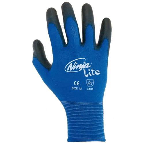 Gant manipulation fine Dext-Lite polyamide bleu enduction PU noir taille 10 photo du produit
