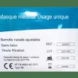Masque médical type IIR bleu à élastiques photo du produit Side View S
