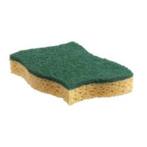 Tampon abrasif vert sur éponge 13,1 x 8,3 cm photo du produit