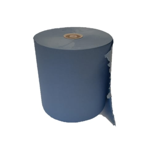 Essuie-mains rouleau bleu 2 plis 195m certifié Ecolabel photo du produit