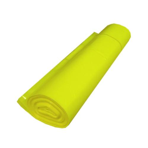 Sac plastique PE BD 130L jaune translucide 55µm photo du produit