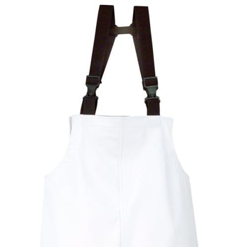 Cotte à bretelles Quimper imperméable polyester enduit polyuréthane blanc taille L photo du produit Back View L