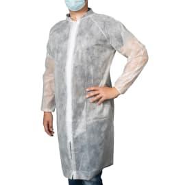 Blouse de laboratoire Poligard PLP 40g/m² zip col Mao manches raglan élastiques poignets blanc taille XXL photo du produit