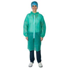 Blouse de travail PLP 25g/m² zip col chemise élastiques poignets vert taille XL photo du produit