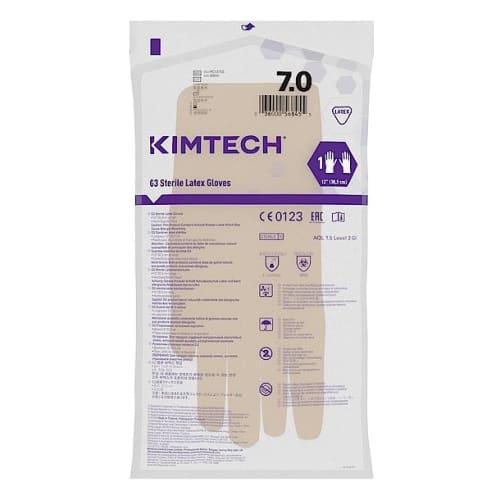 Gant de protection chimique latex stérile Kimtech Pure G3 30cm taille 7 photo du produit Side View L