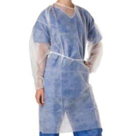 Blouse de soins PLP 20g/m² à liens élastiques poignets blanc longueur 110 cm photo du produit