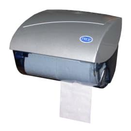 Distributeur de papier toilette gris 2 petits rouleaux photo du produit