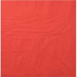 Serviette papier 2 plis 20 x 20 cm rouge photo du produit