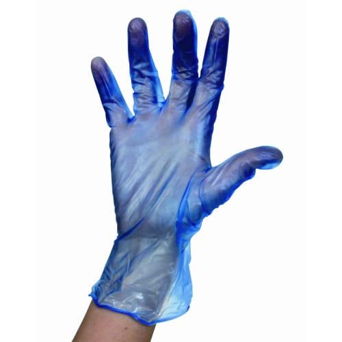 Gant à usage unique vinyle PROP Optifeeds bleu poudré taille S (6/7) photo du produit