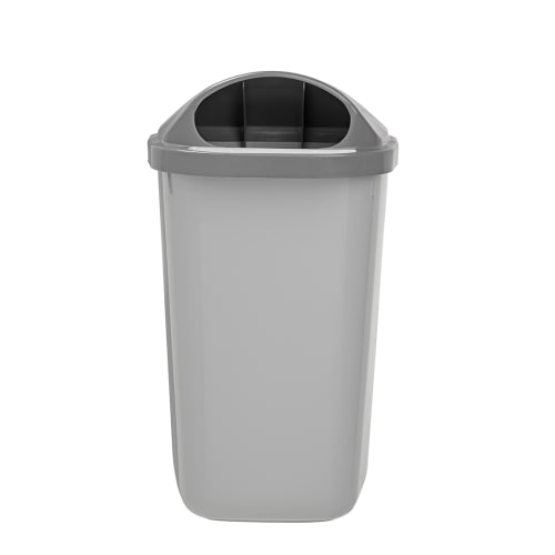 Corbeille murale plastique 50L gris photo du produit Back View L