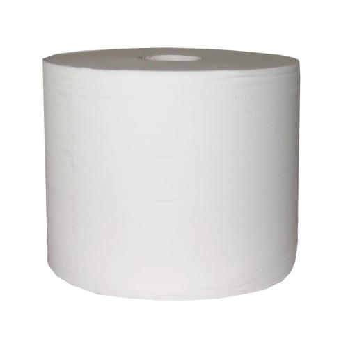 Bobine d essuyage blanche 2 plis 1000 formats 22 x 30 cm certifié Ecolabel photo du produit
