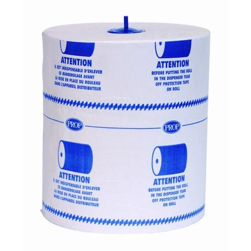 Essuie-mains rouleau blanc 2 plis 200m certifié Ecolabel photo du produit