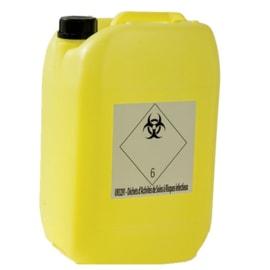 Jerrican pour déchets liquides d activités de soins à risques infectieux DASRI 10L photo du produit