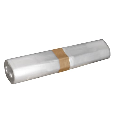 Sac plastique PE BD 50L transparent 30µm photo du produit