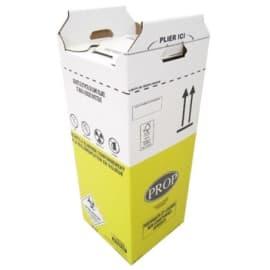 Carton hospitalier DASRI 50L haut lien cranté NF X photo du produit