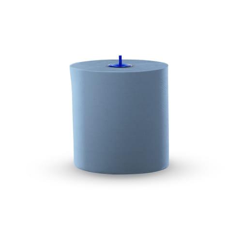 Essuie-mains rouleau bleu 2 plis 130m certifié Ecolabel photo du produit