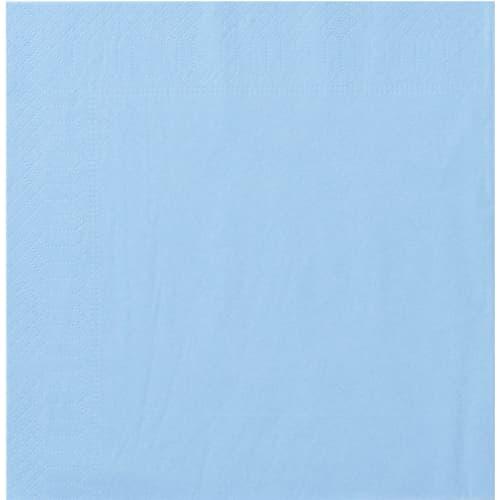 Serviette papier 2 plis 20 x 20 cm bleu azur photo du produit